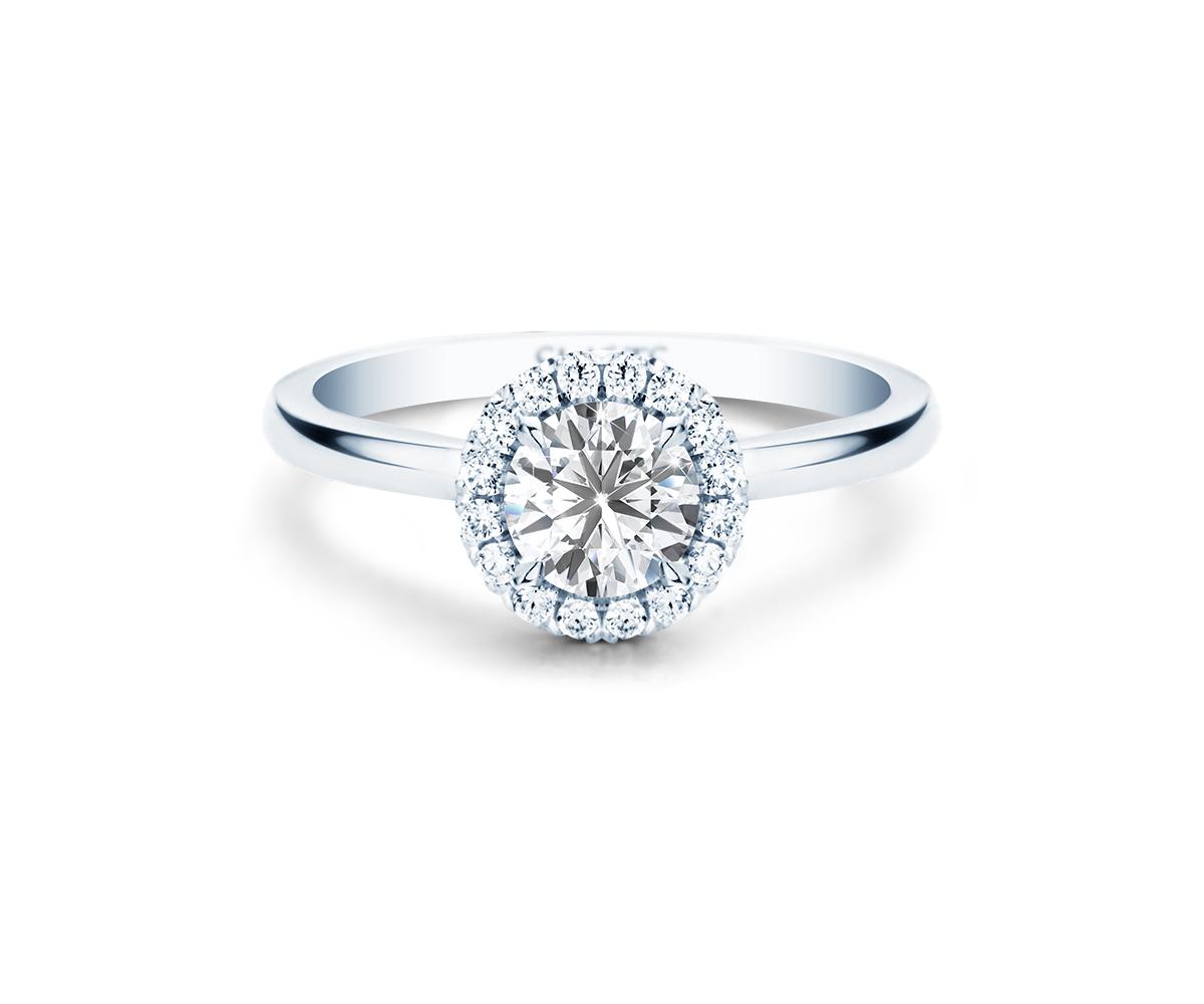 249b09a9345 Ring Modern Halo (Wit goud) | Slaets verlovingsringen